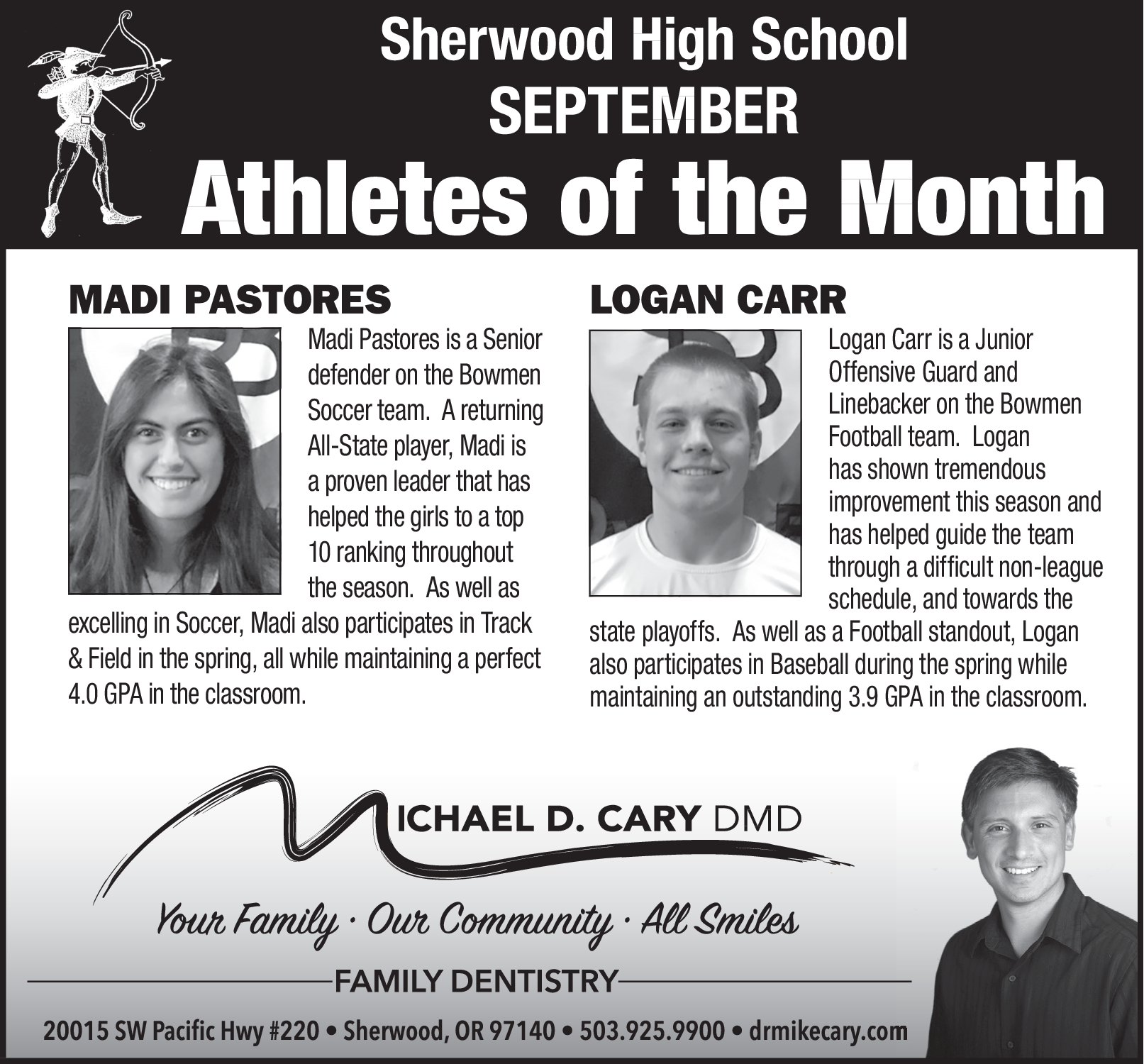 Athletes Of This Month Madi Pastores And Logan Carr in